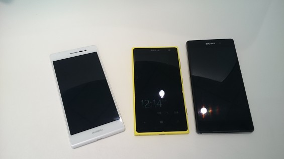 Camera face off featuring the Lumia 1020, Xperia Z1 and Huwaei Ascend P7