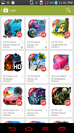 Android App Review   UR launcher