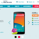 Nexus 5 gets a £50 reduction, now £249.95