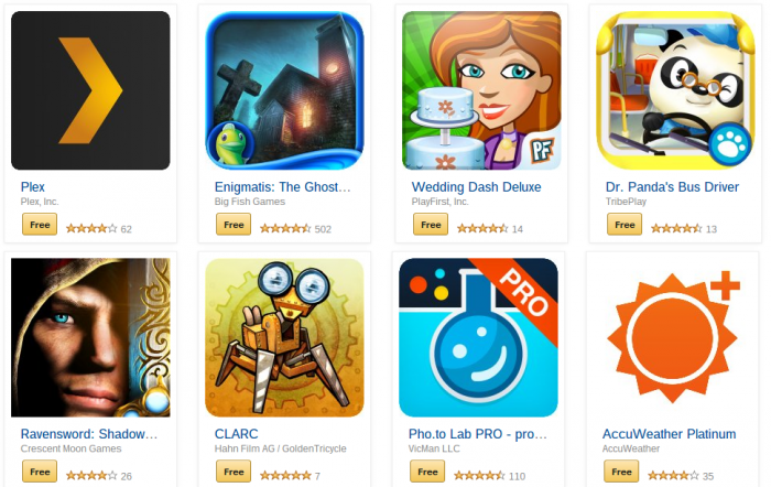 Amazon dishing out selected paid for apps for free