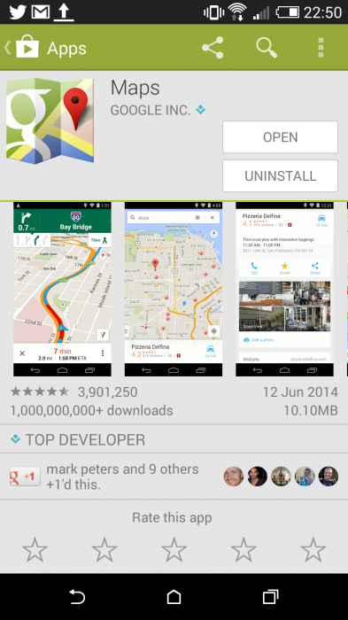 Google Maps   More than a billion installs
