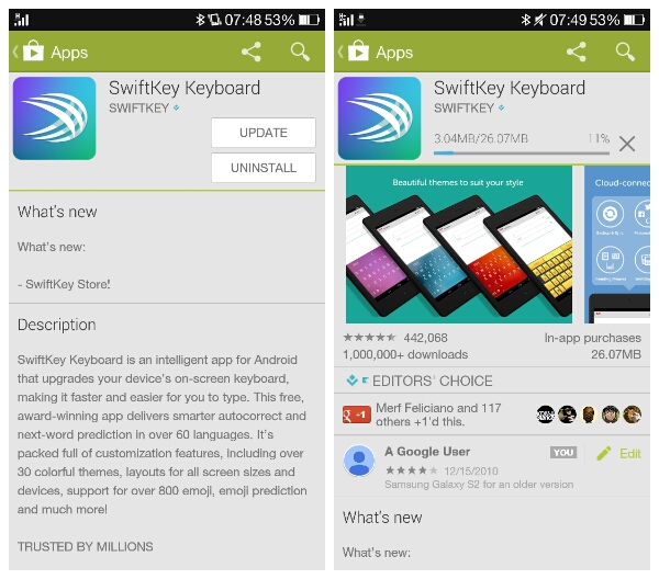 SwiftKey keyboard for Android gets a theme store