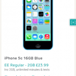 iPhone 5c 16GB for just £23.99 per month. Handset free too.