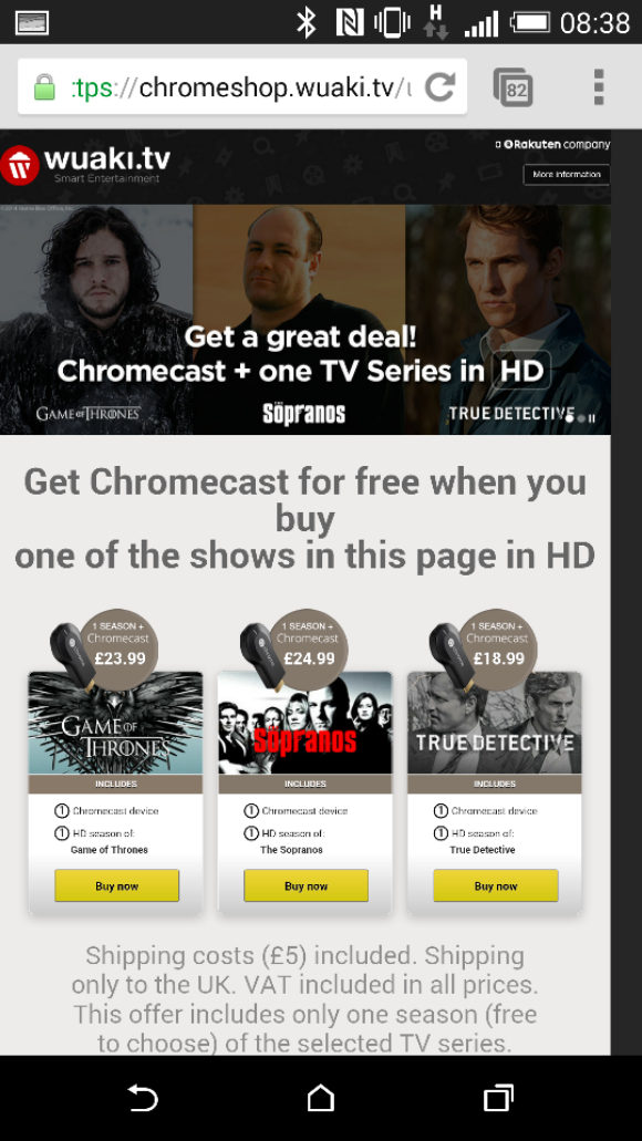 Get yourself a free Chromecast