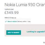 Lumia 930 bargain at EE