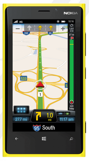 Free Windows Phone satnav to get you home