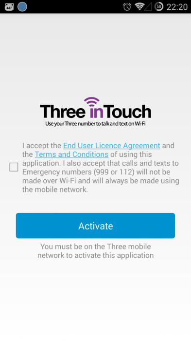 Three WiFi calling app now on Android too