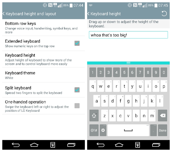 how to clear words from lg g6 keyboard
