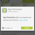Android App permissions. Noticed something?