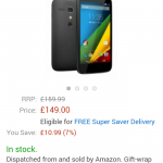 Moto G 4G – £149 at Amazon
