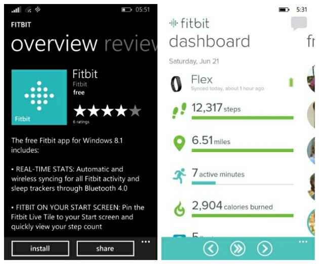 Fitbit Activity Tracker Is Finally Available For Windows Phone
