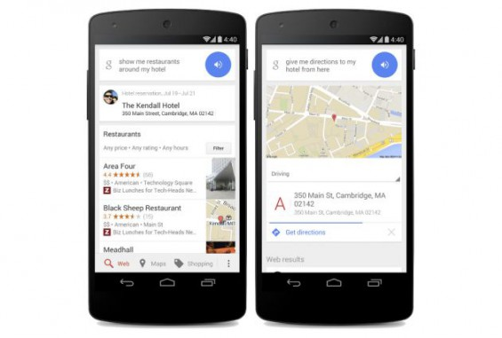 Google Now Hotel Search