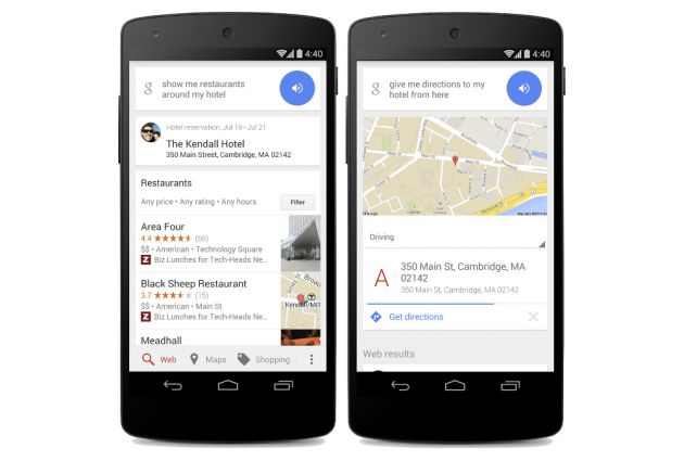 Google Now helps with your Hotel Stay