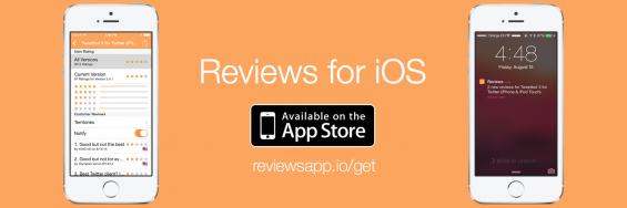 Reviews   Get Notified of Reviews for your favourite apps