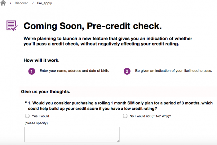 Three to offer pre credit checking