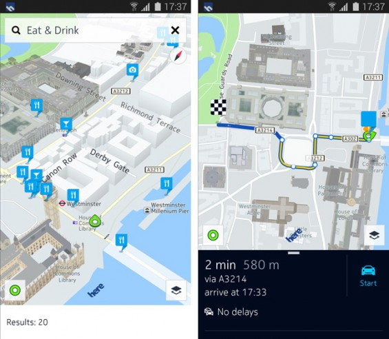 Nokias Here Maps is Launching on Android Devices