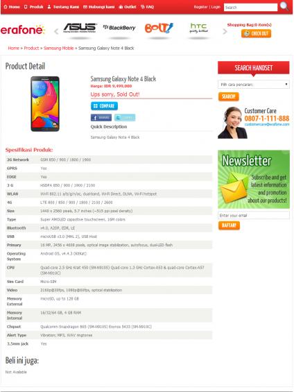 Samsung Note 4 specs leak