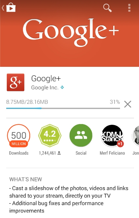 Google+ for Android now allows you to cast to Chromecast