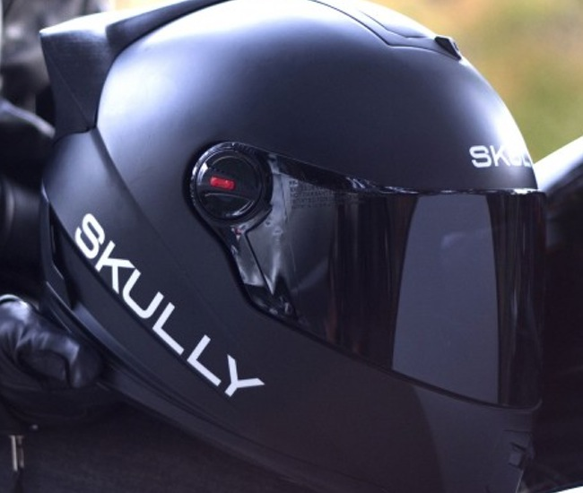 Android powered motorcycle helmet