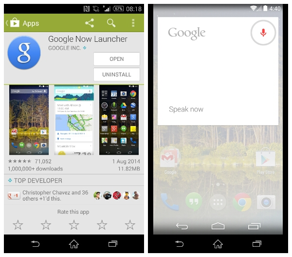 Google Now Launcher available for most devices.