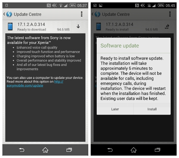 The Sony Xperia Z2 is getting an OTA update