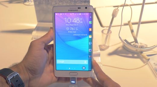 Samsung Galaxy Note Edge   Up close