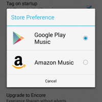 shazam: would that be google play or amazon sir?