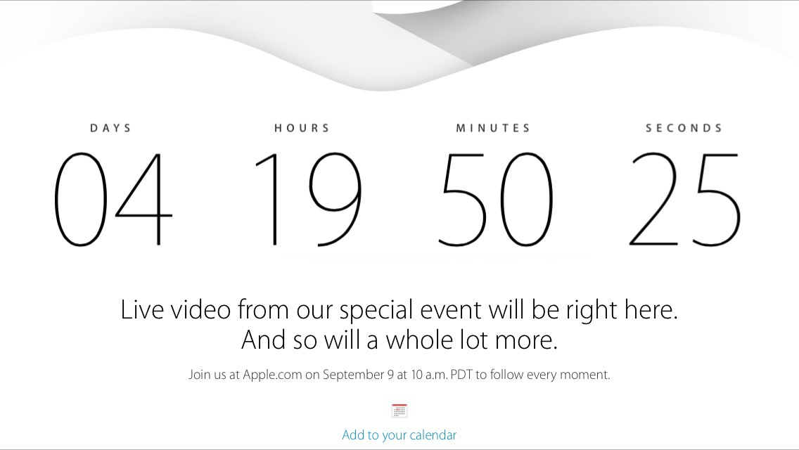 Apple set to live stream Sept 9th Event