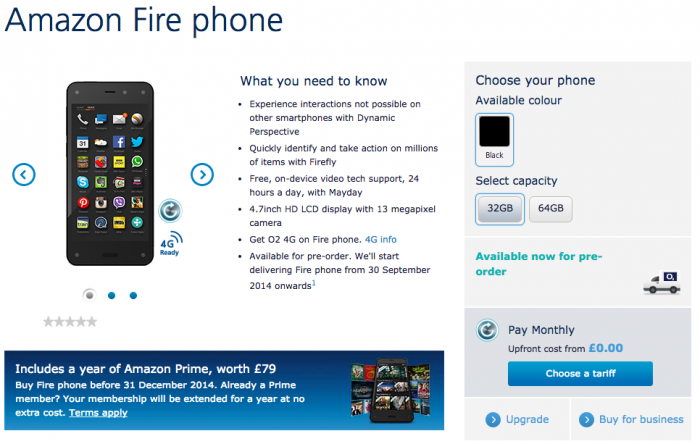 Amazon Fire exclusive to O2 UK