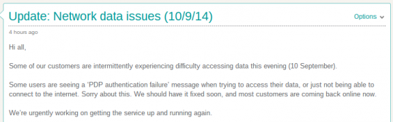 EE data still down