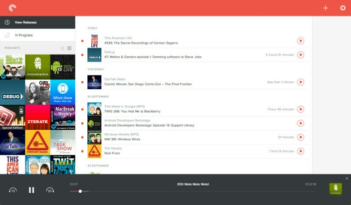 Pocket Casts web based podcast player now in beta.