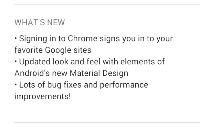 Google Chrome for Android gets a material update