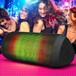 Flashy funky Bluetooth speaker available