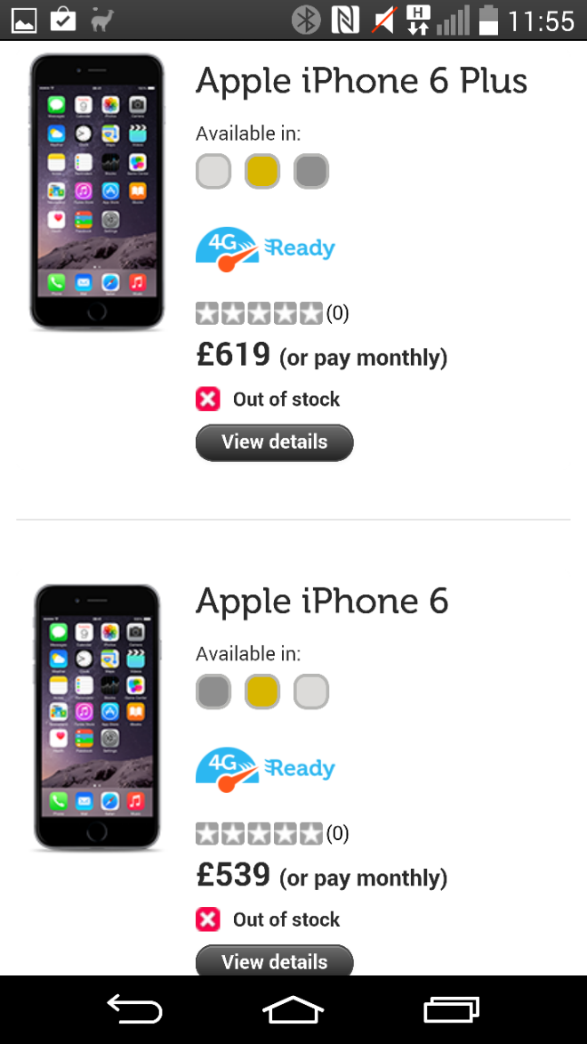 Get the new iPhone 6 and 6 Plus on giffgaff