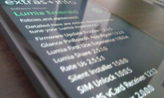 Is Lumia Emerald the next firmware update?