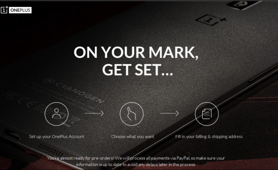 Pre order a OnePlus One on 27th October 2014