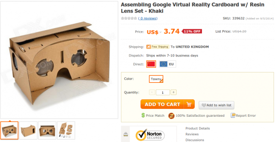 Google Cardboard. Get yourself one!