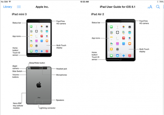 Apple Leaks iPad Air 2 and iPad Mini 3 in iPad User Guide