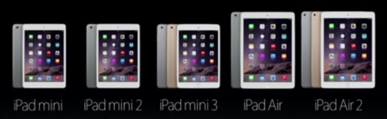 Apple Announce the iPad Air 2 and the iPad Mini 3