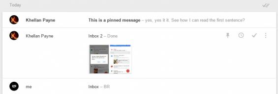 inbox pinned