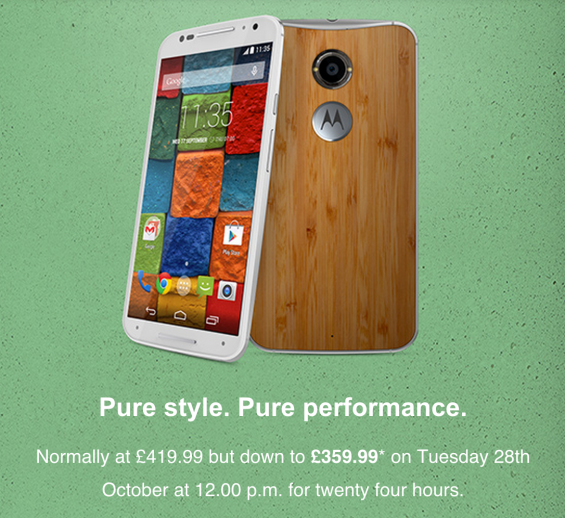 Moto X 24 hour flash sale