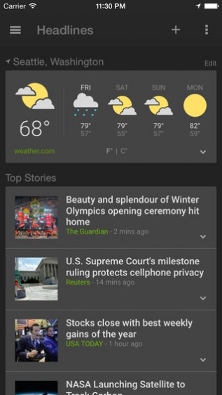 Google Creates Local News and Weather App for iOS