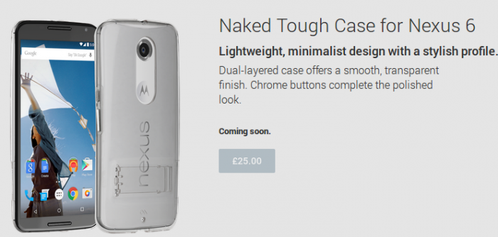 Nexus 6 cases pop up on Google Play