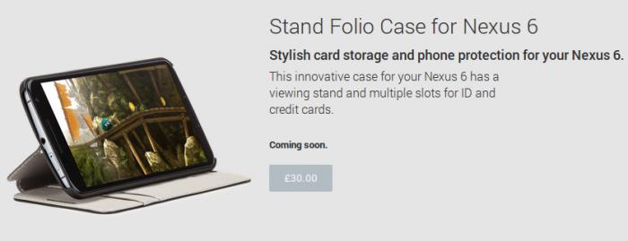 Nexus 6 cases pop up on Google Play