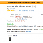 Black Friday – Amazon Fire Phone £150 off