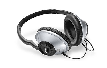 around ear headphones silver large
