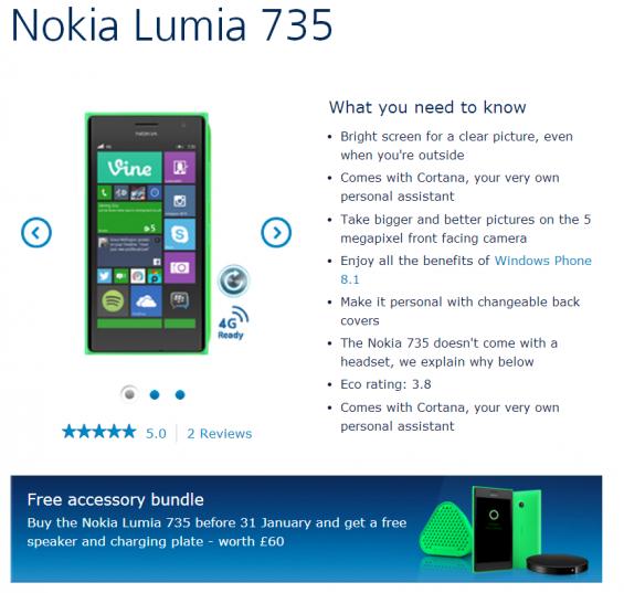 lumia 735 deal