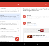 Gmail gets to update to Material design
