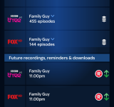 Sky+   Grab the app if you want your smartphone snaps on your TV
