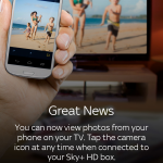 Sky+ – Grab the app if you want your smartphone snaps on your TV